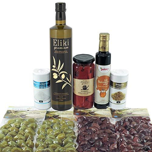 Geschenkpaket Flavors of Greece Originale Griechische Delikatessen Gemischte Geschenkbox Präsentpaket Köstliche Lebensmittel Präsentkorb Geschmackvoll Geschenk für Feinschmecker Feinkost Geschenk set.